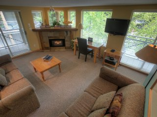 Spacious 3 Bedroom Suite with Private Patio and a Fireplace!