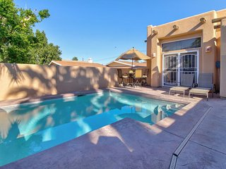 Warm & welcoming home w/ a private pool, gas fireplace, and modern conveniences!