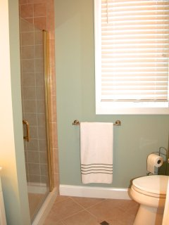Shower in the adjoining bathroom.
