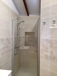 The en suite shower room in the master bedroom