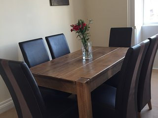 New for 2018 Solid Wood Indigo Dining Table which seats 6, and a high chair is available if required