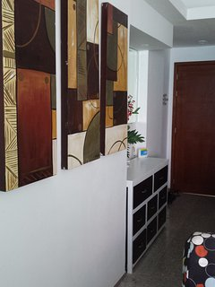 hallway with original art
