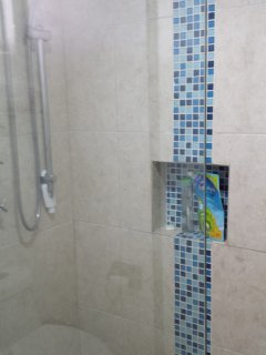 newly remodeled shower room October 2017