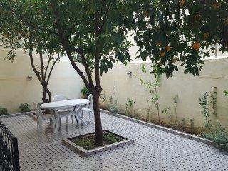 T2 tout equipe confortable verdoyant en plein centre de Marrakech.