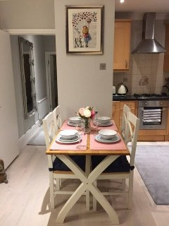 Bright Dining Table that seats four!