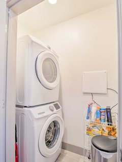 Keep outfits fresh with these convenient in-unit laundry machines.
