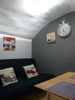 Divano letto nel soggiorno