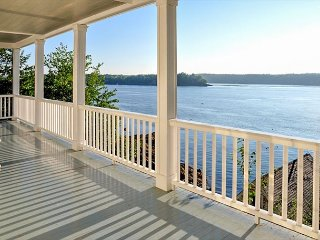6BR Waterfront Boothbay Home w/ Private Barn, Boathouse, Pier & Dock
