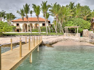 Beachfront Stone-Arched Villa with Rustic Expressions