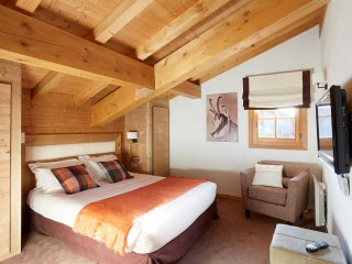 Triple Room for 3 at Les Loges Blanches, Megeve, Savoie