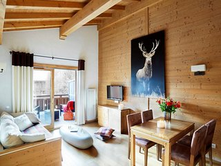 Attic Suite for 4 at Les Loges Blanches, Megeve, Savoie