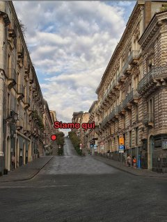 Via A. Di Sangiuliano vista da via Etnea. Posizione casa