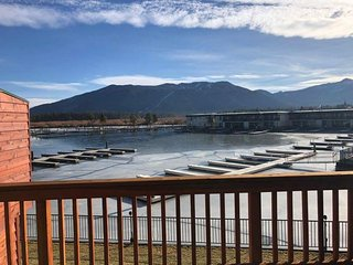 171A-Tahoe Keys beach right out the front door! Unit has boat slip, great mounta