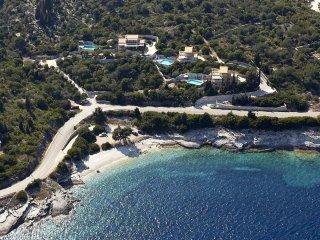 Villa Despina - in the middle - overlooking Kloni Gouli beach