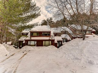 3+BR, 3 bath condo ON the trail at Attitash! Ski from the property!