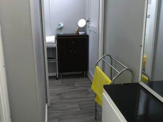 Bathroom has a shower/hip bath/toilet. Recently renovated.