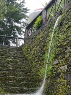 Myoho's own waterfall in the rains...