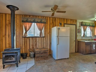 NEW! 1BR Cedaredge Cabin w/ Yard, Fire Pit & Views