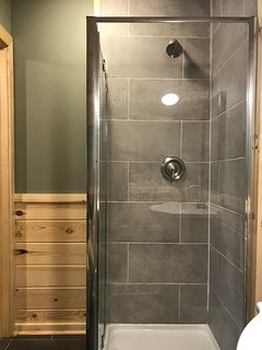 Enclosed standing shower, 2nd floor