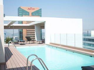 Departamento al lado del Parque Arauco! piscina climatizada