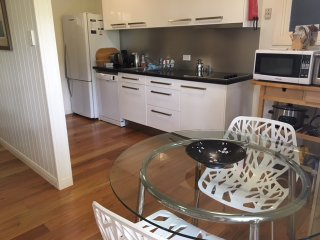 Fully equipped separate modern kitchen and dining