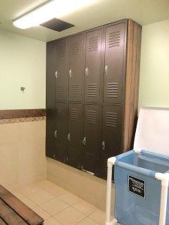 Womens locker room