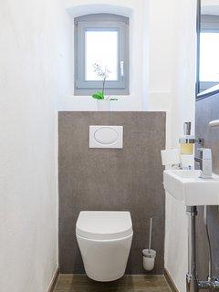 Toilette mit Tageslicht