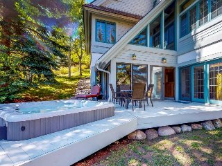Luxurious Vail escape w/ private sauna, hot tub, fitness room, & sweeping views!