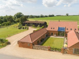 Surrounded by open countryside and with the dog exercise paddock next to the car park