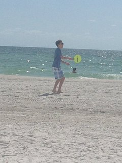 One of our favorite activities is playing paddle ball on the beach. It's fun and great exercise.