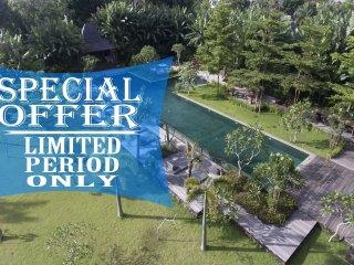 Serenity River Estate, 9 Bedroom Villa, feature pool and gardens, chef, Canggu