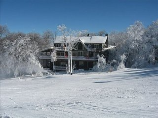 7BR Ski Chalet on the Slopes of Beech Mountain, NC, Wall of Windows Overlooking