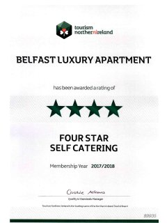Tourism Northern Ireland 4 Star Approved 2017/2018