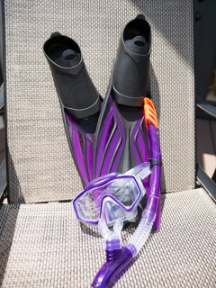 We provide complimentary snorkel sets for two.