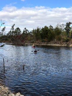Kayaking, around 20 blocks long area.