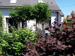 Maison avec jardin independante 6 pers, mer, WIFI, Reservation directe, sauna