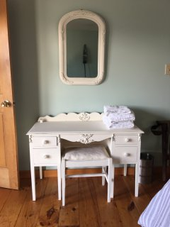 Vanity in master bedroom