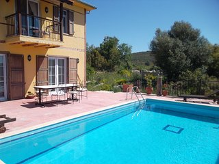 Charming detached villa with a big private garden around. Pool not visible.