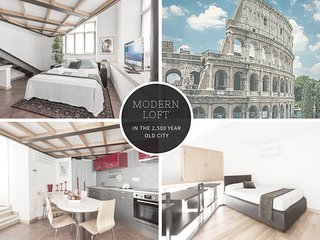 MODERN LOFT IN 2,500 YEAR OLD CITY - COLOSSEUM 4 mins walk