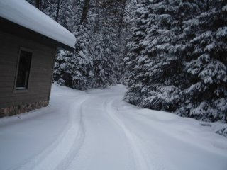 Driveway in the winter.