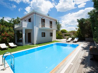 Aeriko-Nefeli Beachfront Villa with Stunning View and Private Pool.