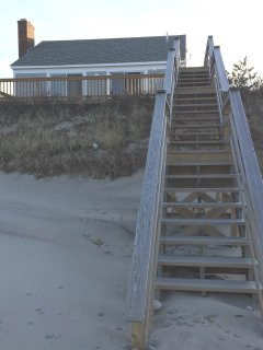 View of the house from the beach