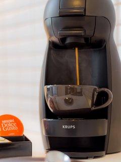 Enjoy espresso beverages anytime