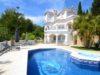 Villa sleeps 8 + 2. Private pool with Power Swim, Jacuzzi & Outstanding Gardens