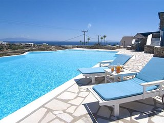 Elegant Villa with Shared Pool & Amazing Panoramic Sea Views towards Elia beach!