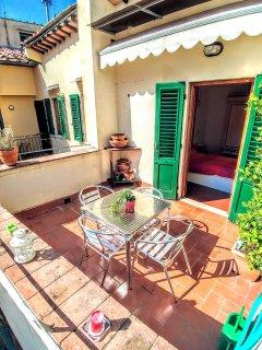 The terrace under the sun