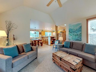 Sunny & dog-friendly beach house w/ private hot tub - steps from the beach