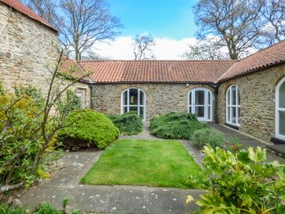 WITTON VIEW COTTAGE, 17th century stone cow byre, WiFi, River Wear 5 mins walk,