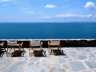 Magnificent Cycladic Sea Front Villa with Amazing Views & Hipster Interiors!!