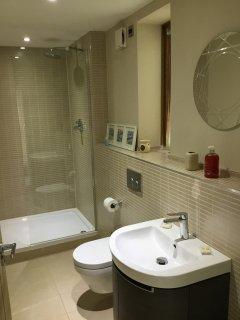 Shower room on ground floor (in additon to bathroom on lower ground floor)